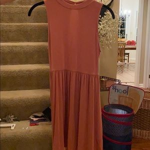 Forever 21 fit and flare sunset pink sun dress.
